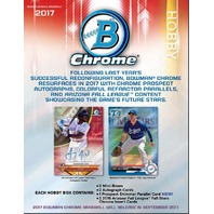 2017 Bowman Chrome Baseball Hobby Mini-Box (6 Packs)(Sealed) Presell Ships 9/29