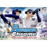 2017 Bowman Chrome Baseball HTA Choice 12 Box Case (Sealed)