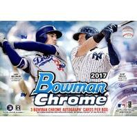 2017 Bowman Chrome Baseball HTA Choice Box (1Pack/3 Cards)(Sealed)