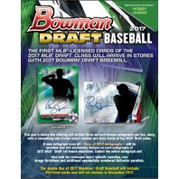2017 Bowman Draft Picks & Prospects Baseball HTA Jumbo 12 Pack Hobby BOX Sealed