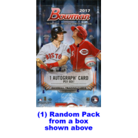 2017 Bowman Baseball Hobby 10 Card Pack (Factory Sealed)