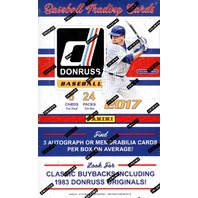 2017 Panini Donruss Baseball Hobby 16 Box Case (Factory Sealed)
