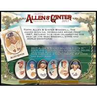 2017 Topps Allen & Ginter A&G Baseball Hobby 24 Pack Box (Factory Sealed)