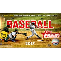2017 Topps Heritage Baseball Hobby 12 Box Case (Factory Sealed)