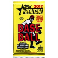2017 Topps Heritage Baseball Hobby 9 Card Pack (Factory Sealed)(Random)