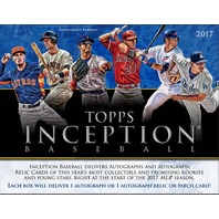 2017 Topps Inception Baseball Hobby 16 Box Case (Sealed) Releases 5/19/17