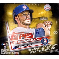 2017 Topps Series 1 Baseball Jumbo Hobby 6 Box Case (Sealed) w/ 12 Silver Packs