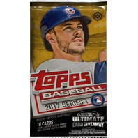 2017 Topps Series 1 Baseball Hobby 10 Card Pack (Factory Sealed)