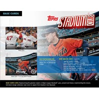 2017 Topps Stadium Club Baseball Hobby 8 Card Pack (Factory Sealed)(Random)