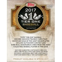 2017 Topps Tier One Baseball Hobby Pack/Box (3 Cards) (Factory Sealed)
