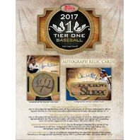 2017 Topps Tier One Baseball Hobby 12 Box Case (Factory Sealed)