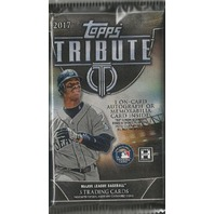 2017 Topps Tribute Baseball Hobby 3 Card Pack (Factory Sealed)