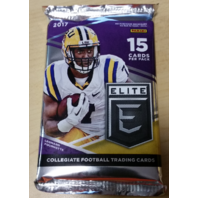 2017 Panini Elite Collegiate Draft Picks Football Hobby 15 Card Pack (Sealed)
