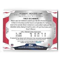 ROBERT WOODS 2014 Topps Finest Jumbo Jersey Autograph Pulsar Refractor auto /25