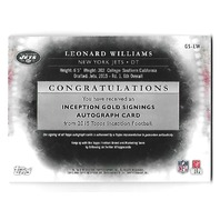 LEONARD WILLIAMS 2015 Topps Inception Gold Signings auto /25 Rookie RC NY Jets