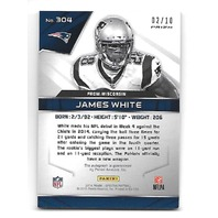 JAMES WHITE 2014 Panini Spectra Prizms Red RC auto /10 New England Patriots