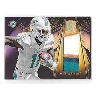 MIKE WALLACE 2013 Panini Spectra Materials gold patch /10 4 color Miami Dolphins