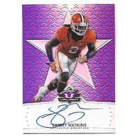 SAMMY WATKINS 2014 Leaf Metal Draft Prismatic Purple refractor auto /25