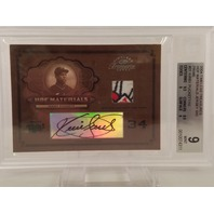 KIRBY PUCKETT 2004 Donruss Timeless Treasures patch auto /10 Twins BGS 9 Mint