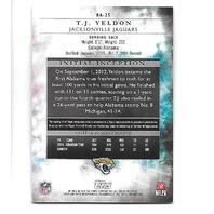 T.J. YELDON 2015 Topps Inception Blue auto /25 Jacksonville Jaguars Rookie RC