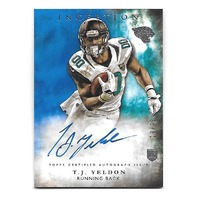 T.J. YELDON 2015 Topps Inception Blue auto /25 Jacksonville Jaguars Rookie RC