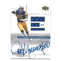 JACK YOUNGBLOOD 2001 Upper Deck Pros and Prospects Piece History JSY auto #JYAJ