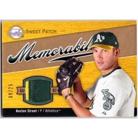 HUSTON STREET 2007 Sweet Spot Sweet Swatch Memorabilia Jersey Patch Card 9/25