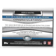TITUS YOUNG  2011 Topps Platinum Rookie Patch Autograph auto RC /150 Lions
