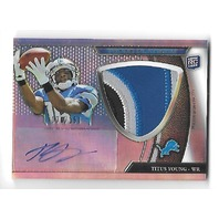 TITUS YOUNG  2011 Topps Platinum Rookie Patch Autograph auto RC /150 Lions