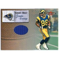 TORRY HOLT 2000 Fleer Tradition Genuine Coverage Game Used Jersey Card BV$25