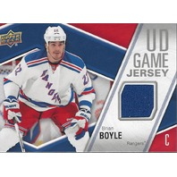 Brian Boyle Upper Deck Game Jersey 2011-12 New York Rangers#GJ-BB