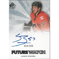 Lance Bouma Sp Authentic Auto Future Watch Calgary Flames #276 /999