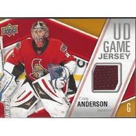 Craig Anderson 2011-12 Upper Deck UD Series 1 Game Jersey GJCA Ottawa Senators