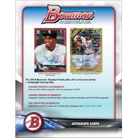 2018 Bowman Baseball (10 Card) Hobby PACK (Factory Sealed)