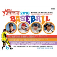 2018 Topps Heritage Baseball Hobby 24 Pack Box (Factory Sealed)