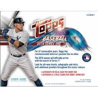 (3) Three 2018 Topps Series 1 Baseball Hobby PACKS (Factory Sealed)(Random)