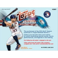 2018 Topps Series 2 Baseball Jumbo Hobby 6 Box Case (Sealed) w/ 12 Silver Packs