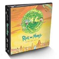 Rick&Morty Season 1 Trading Cards BINDER +exclusive Sticker Set 2018 Cryptozoic