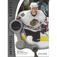 Brent Seabrook Chicago Blackhawks 2006 SP Game Used Rookie /999