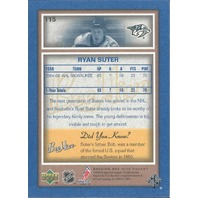 Ryan Suter Nashville Predators 2005-06 Bee Hive Hockey Blue #115