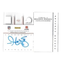 BRANDON WEEDEN 2012 Panini Elite Rookie Inscriptions Blue Ink auto PR 55