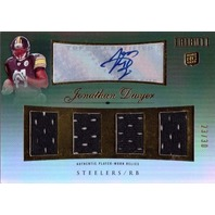 JONATHAN DWYER 2010 Topps Tribute Autograph Quad Jersey 23/30 Rookie Auto Card