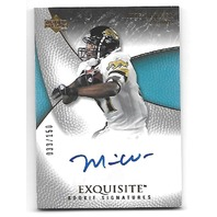 MIKE WALKER 2007 Upper Deck Exquisite RC auto /150 Jacksonville Jaguars