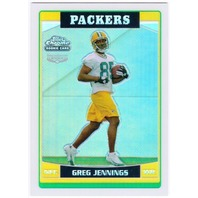 GREG JENNINGS 2006 Topps Chrome Refractor Rookie Card Parallel #260