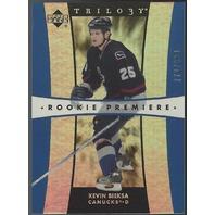 Kevin Bieksa 2005-06 Upper Deck UD Trilogy Rookie Premiere RC Anaheim Ducks /999