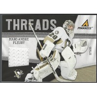 Marc-Andre Fleury 2011-12 Panini Pinnacle Threads Memorabilia Pittsburgh Peguins