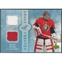 Brian Elliot 2007-08 Upper Deck UD Ice Fresh Threads Calgary Flames Rookie RC