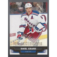Daniel Girardi 2013-14 Upper Deck UD Series 1 Exclusives New York Rangers /100