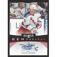 Daniel Girardi 2012-13 UD Black Diamond Gemography Auto New York Rangers #GEMDG