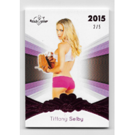 Tiffany Selby 2015 Benchwarmer Signature Series Card 2/5 glove pink shorts